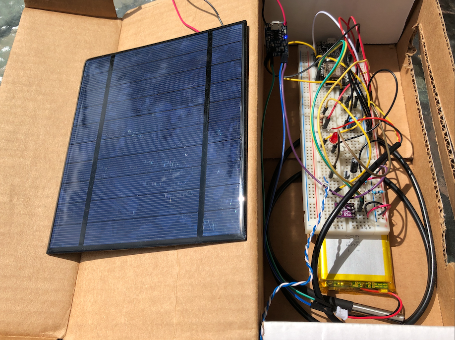 Prototype Solar Power Weather Station